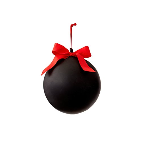 Sage & Co. XAO18624BK Chalkboard Ball Ornament (3 Pack)