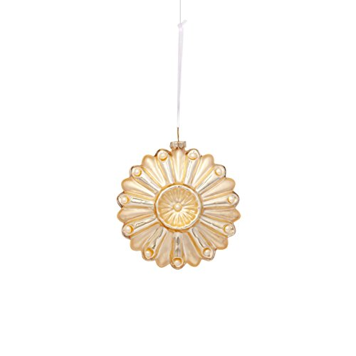 Sage & Co. XAO18643WH Glass Medallion Ornament (6 Pack)