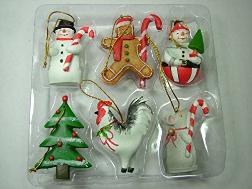 One Hundred 80 Degrees Value Pack of Six Resin Mary Lake Thompson Ornament
