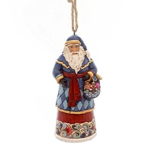 Jim Shore Heartwood Creek, Santa with Basket Ornament