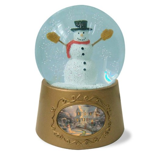 Enesco Thomas Kinkade Painter of Light Snowman Waterball from Gregg Gift, 3.5-Inch