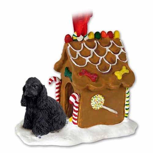 Cocker Spaniel Gingerbread House Ornament – Black