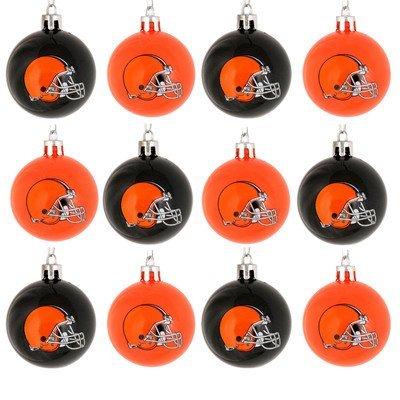 NFL Ball Ornament (Set of 12) NFL Team: Cleveland Browns