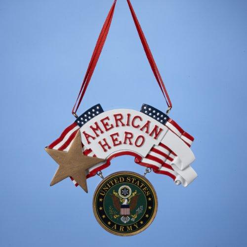 "Kurt Adler U.S. Army ""American Hero"" Christmas Ornament"