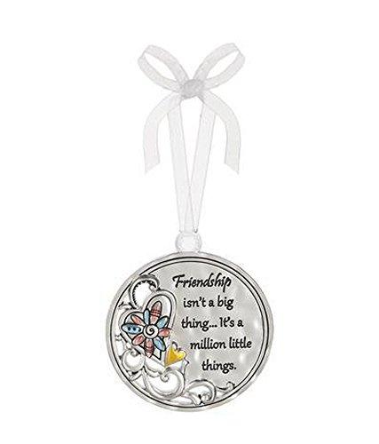 Friendship Isn't a Big Thing It's a Million Little Things Circular Metal Car Charm – By Ganz