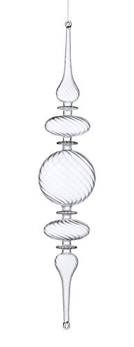 Sage & Co. XAO16695CL 21 Glass Swirl Finial Ornament by Sage & Co.