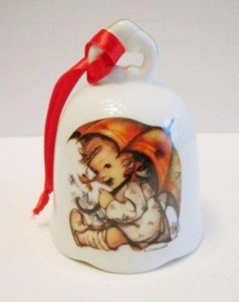"Hummel Porcelain ""Girl with Umbrella"" Ornament Bell"