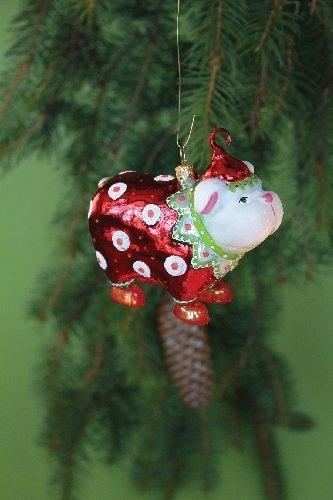 Patience Brewster White Bulldog Glass Ornament