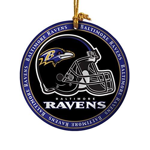 NFL Baltimore Ravens Ceramic Plate Ornament, Black, 2.25″