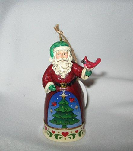 Jim Shore 4″ Santa with Cardinal Ornament