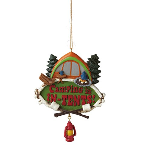 """Camping' Is In-tents"""" Ornament"""