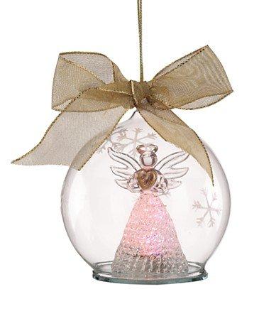 Lenox Wonder Ball Angel Color Changing Lit Ornament