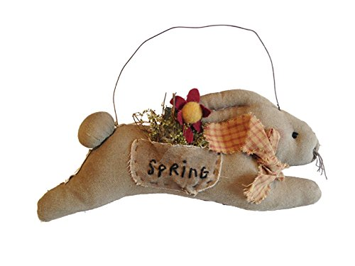 Primitives by Kathy Vintage Fabric Spring Bunny on Hanger