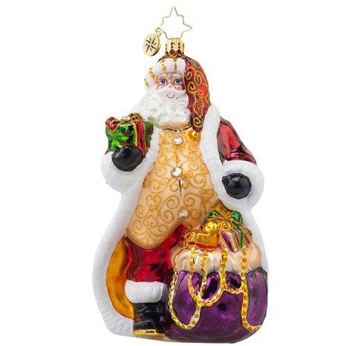 Christopher Radko Golden Dream Santa Christmas Ornament