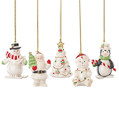 Lenox Merry Little Porcelain Ornament Set of 5