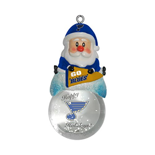 NHL St. Louis Blues Snow Globe Ornament, Silver, 1.5″