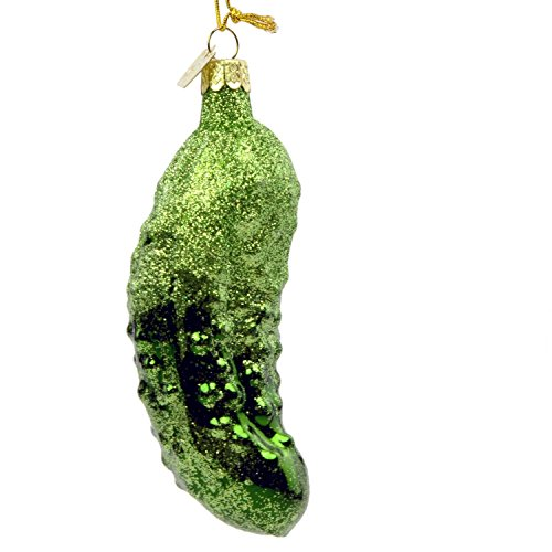 Kurt Adler Noble Gems Glitter Pickle Ornament