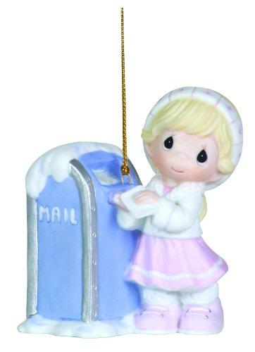 "Precious Moments Girl With Mailbox Ornament ""Dear Santa"""