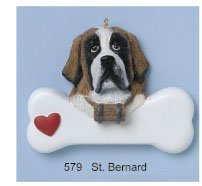 St Bernard Personalized Ornament