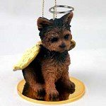 YORKSHIRE TERRIER Dog YORKIE Puppy Cut ANGEL Miniature Christmas Ornament NEW DTA131
