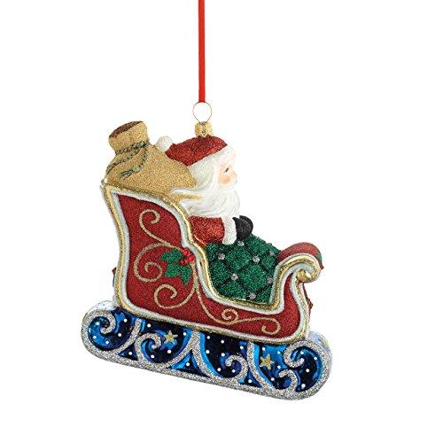 Reed & Barton Classic Christmas Santa/Sleigh Ornament