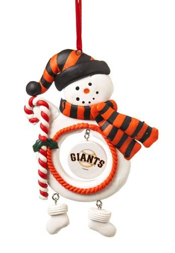 San Francisco Giants Jolly Christmas Snowman Ornament