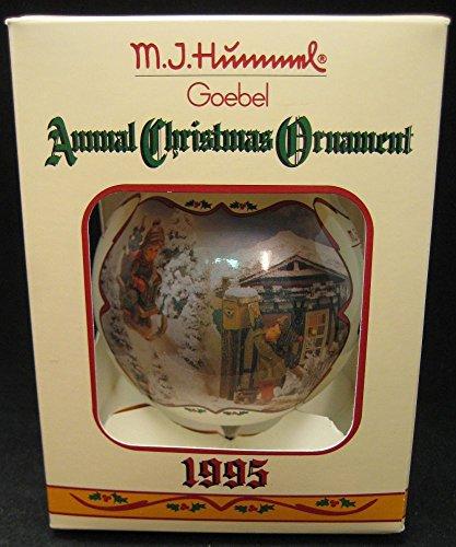 M.I. Hummel 1995 Glass Ball Ornament Annual Christmas Edition