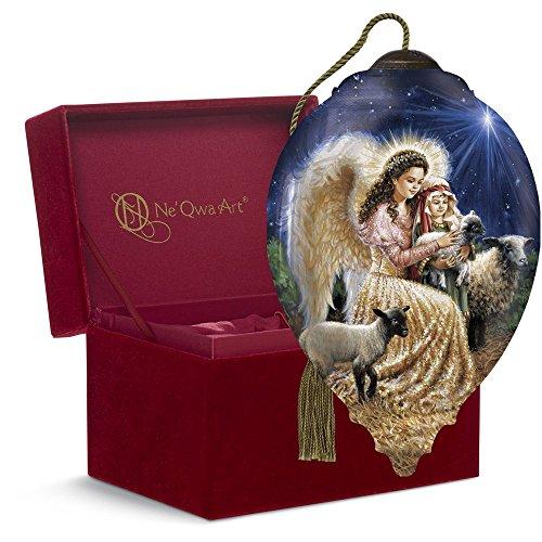 Ne'Qwa Art Christmas Gift, Dona Gelsinger Gentle Sheperd, Glass, 7161107