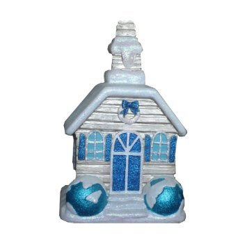 Martha Stewart Living Holiday Snow Covered Christmas Village 9.75 in