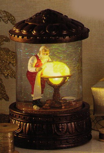 Hallmark Christmas XKT3009 Mapping His Way ~ Night Before Christmas Series Snowglobe
