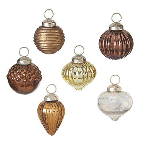 Glass Mini Kugel Ornaments Set of 12