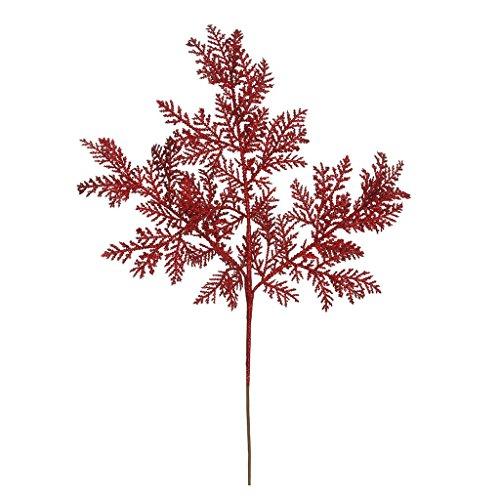 Vickerman 374511 – 22″ Red Glitter Cypress Spray (12 pack) (L152503)