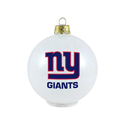 NFL New York Giants LED Color Changing Ball Ornament, 2.625″, White