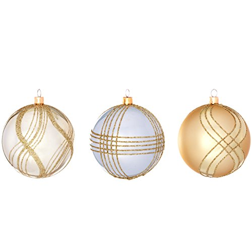 Sage & Co. XAO18799GD Shatterproof Holiday Bling Ball Ornament (72 Pack)