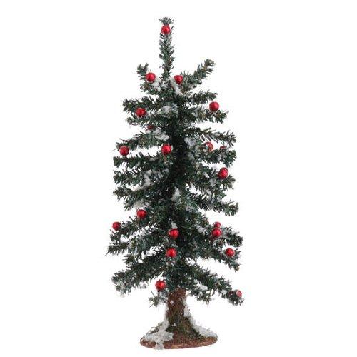 RAZ Imports Christmas 14″ Snowy Tree With Metallic Balls