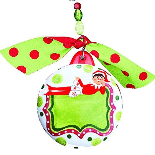 Glory Haus We Believe Girl Elf Puff Ornament, 4″