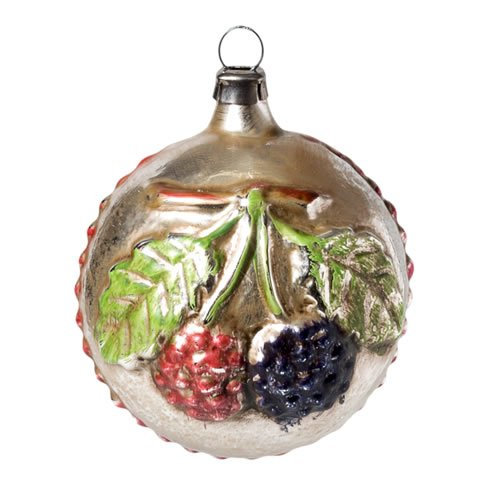"Vintage mouthblown Christmas Glass ball ""Blackberries and Boom"" by MAROLIN® Germany"