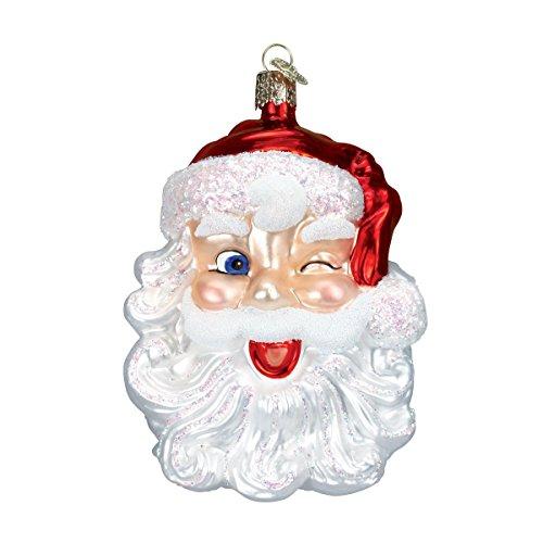 Old World Christmas Winking Santa Glass Blown Ornament