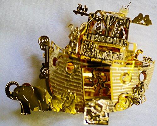 Danbury Mint 24K Gold Noah's Ark 2001 Ornament