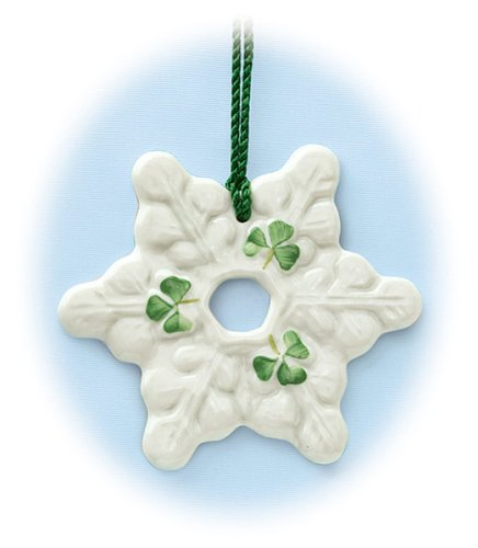 BELLEEK SNOWFLAKE ORNAMENT – SNOWFLAKE ORNAMENT, BELLEEK COLLECTION – Christmas Ornament