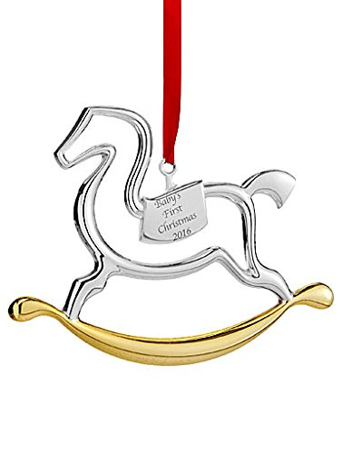 Nambe Baby's First Rocking Horse 2016 Ornament