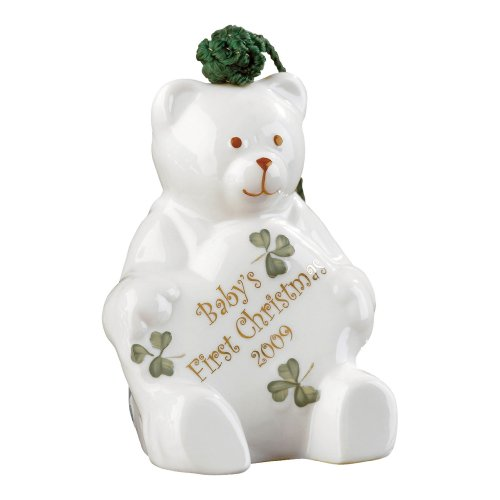 Belleek 4-Inch Baby's First, Christmas Ornament