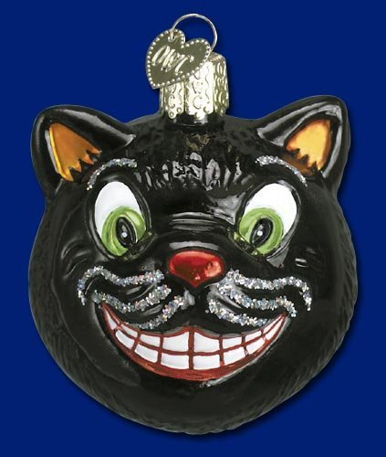 GRINNING CAT Halloween Ornament Old World Christmas NEW