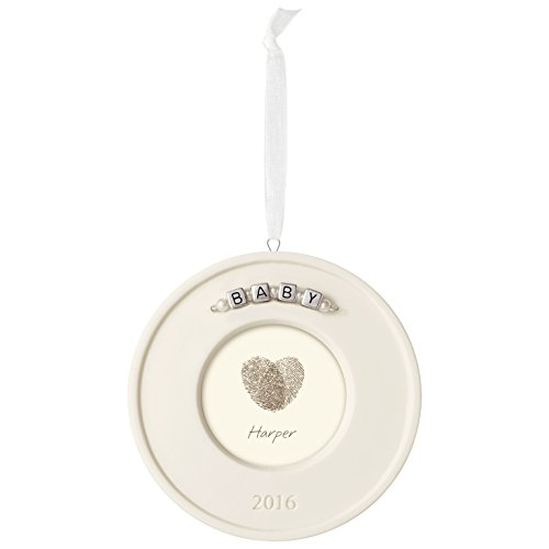 Fingerprint Ornament Kit Christmas Ornament Baby's Fingerprint Dated 2016 Hallmark Keepsake Ornament