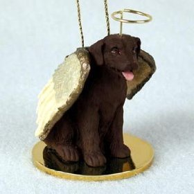 Labrador Retreiver Angel Dog Ornament – Chocolate
