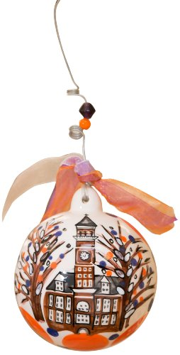 Glory Haus Clemson Ball Ornament, 4 by 4-Inch