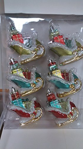 Martha Stewart Living 5 In. Sleigh with Presents Ornament (6-pack) by Martha Stewart Living