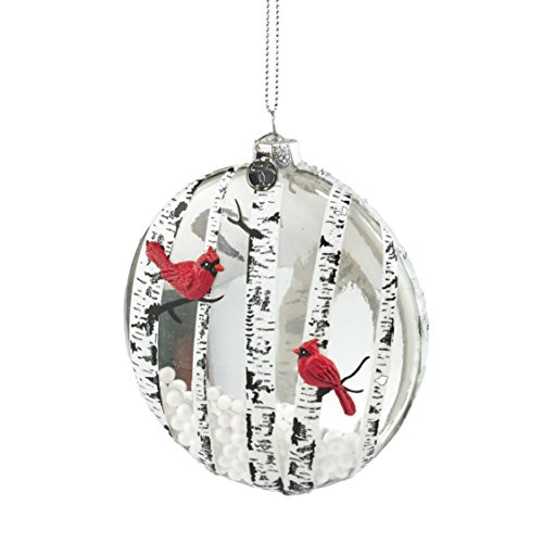Department 56 Forest Frost by Cardinal Disc Ornament 4 In