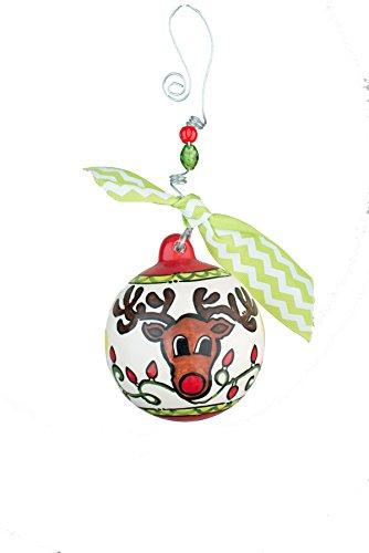 Glory Haus Reindeer Ball Ornament, 4.5″