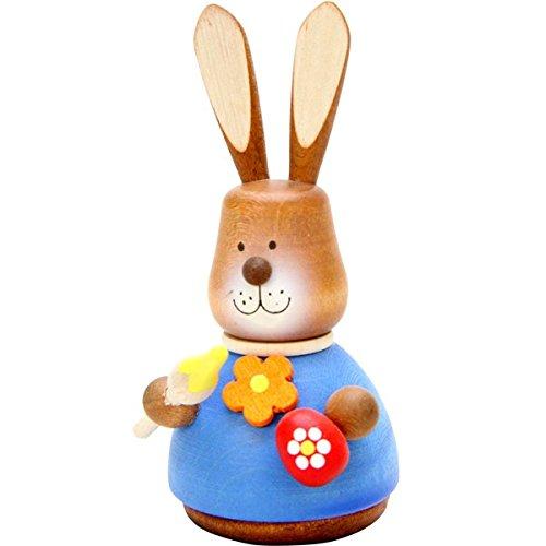 "15-0316 – Christian Ulbricht Ornament – Bunny Artist Painted (No String) – 4″""H x 2″""W x 2.5″""D"